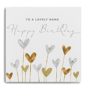 Janie Wilson Gold Leaf Happy Birthday Nana Card