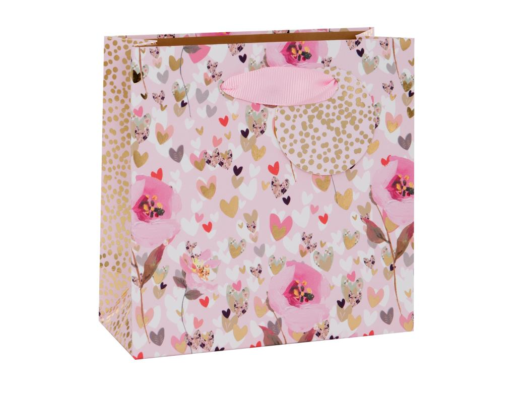 Glick Hearts and Flowers Gift Bag - Small