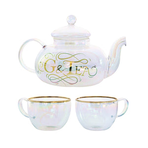 Root 7 Gin and Tonic 'G n Tea' Glass Teapot Cocktail Set