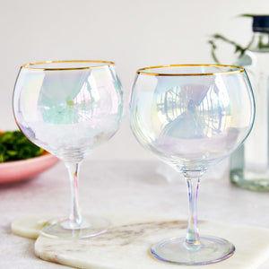 Root 7 Iridescent Gin Balloon Glasses Set of 2