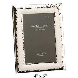 Impressions Shiny Hammered Finish Photo Frame 4 by 6 - Narborough Hall