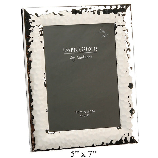 Impressions Shiny Hammered Finish Photo Frame 5 by 7 - Narborough Hall