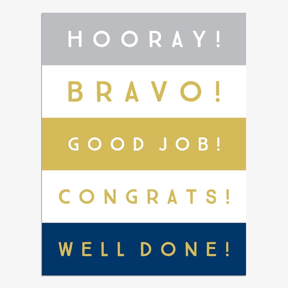 Jot Hooray, Bravo! Card | More Than Just A Gift