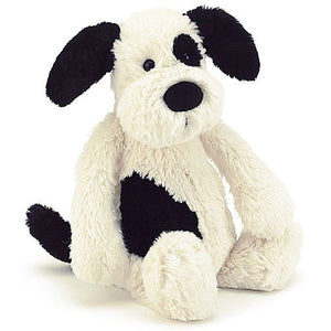 Jellycat Bashful Black & Cream Puppy - Small | More Than Just at Gift | Narborough Hall