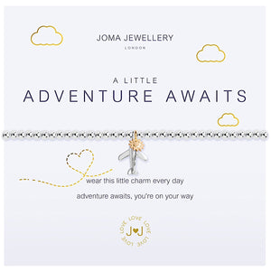 Joma a little Adventure Awaits Bracelet - aeroplane