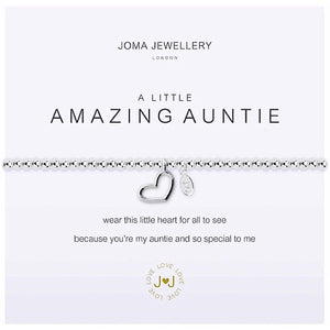 Joma a little Amazing Auntie Bracelet - heart