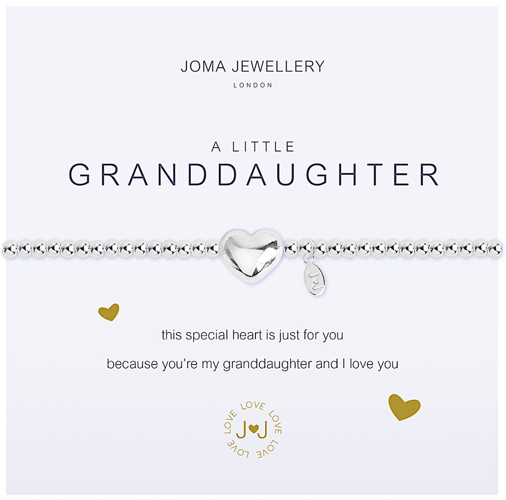 Joma a little Granddaughter Bracelet - heart