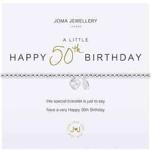 Joma a little Happy 50th Birthday Bracelet - More Than Just a Gift