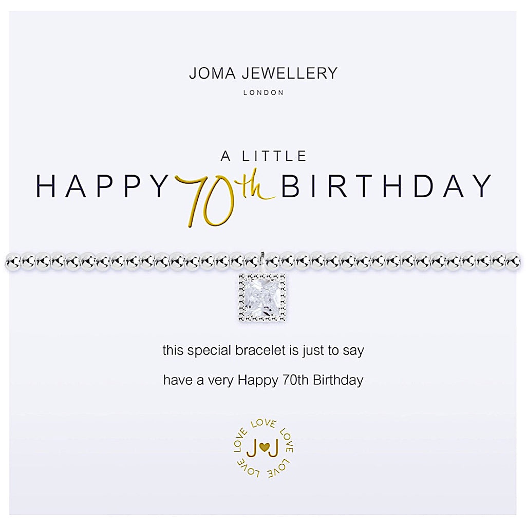 Joma Jewellery a little Happy 70th Birthday Bracelet