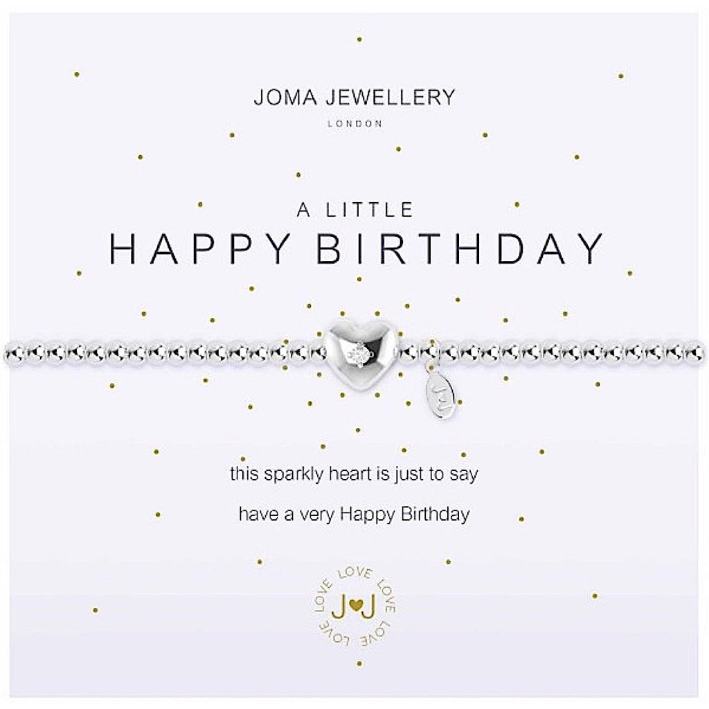 Joma a little Happy Birthday Bracelet - heart