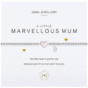 Joma a little Marvellous Mum Bracelet - heart