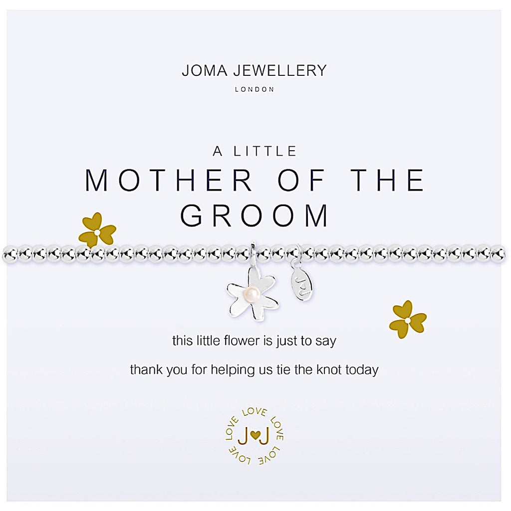 Joma a little Mother of the Groom Bracelet - flower