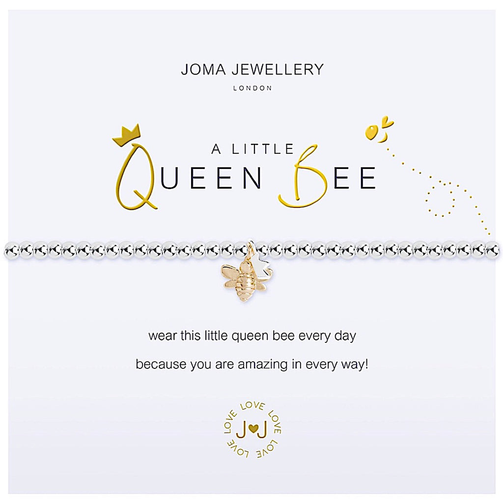Joma a little Queen Bee Bracelet - bee and crown