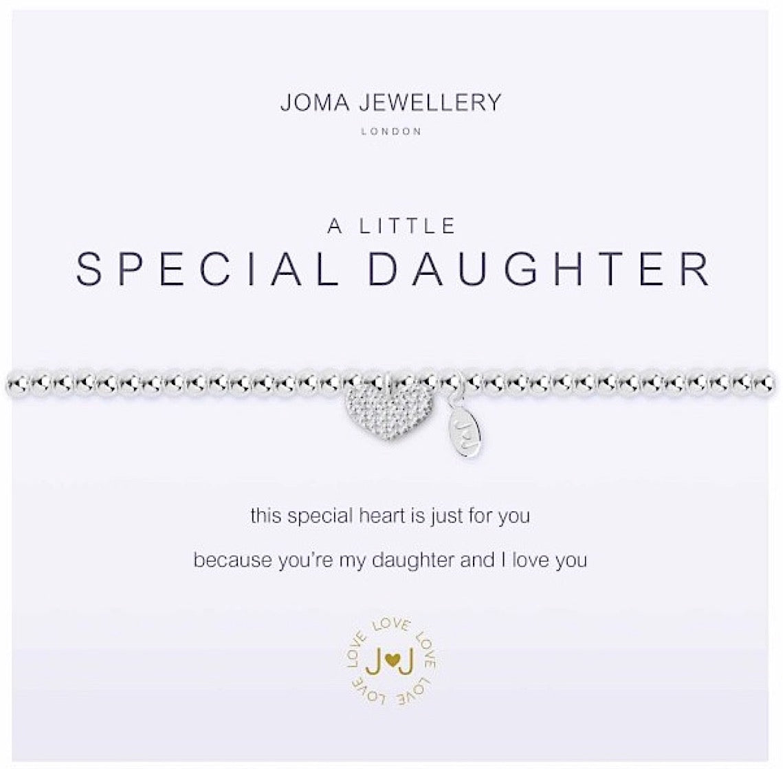 Joma a little Special Daughter Bracelet - heart