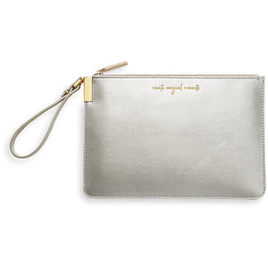 Katie Loxton Create Magical Moments/Time to Shine Pouch - silver