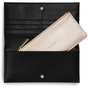 Katie Loxton Ooh La La Secret Message Purse - black & gold