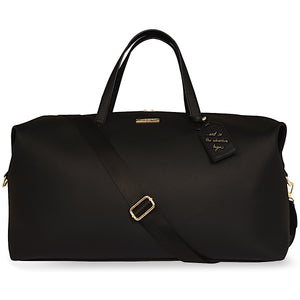 Katie Loxton Black Adventure Begins Weekend Holdall Bag