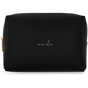 Katie Loxton Oh So Chic Large Wash Bag - black