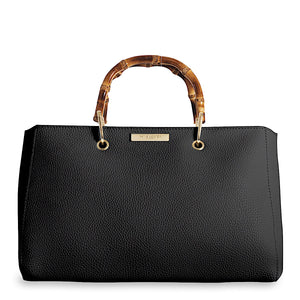 Katie Loxton Black Avery Bamboo Handbag - More Than Just a Gift