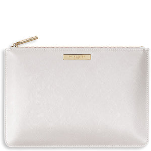 Katie Loxton Bridesmaid Bridal Perfect Pouch - pearly white
