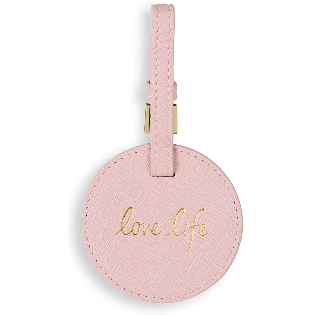 Katie Loxton Love Life Luggage Tag - blush pink