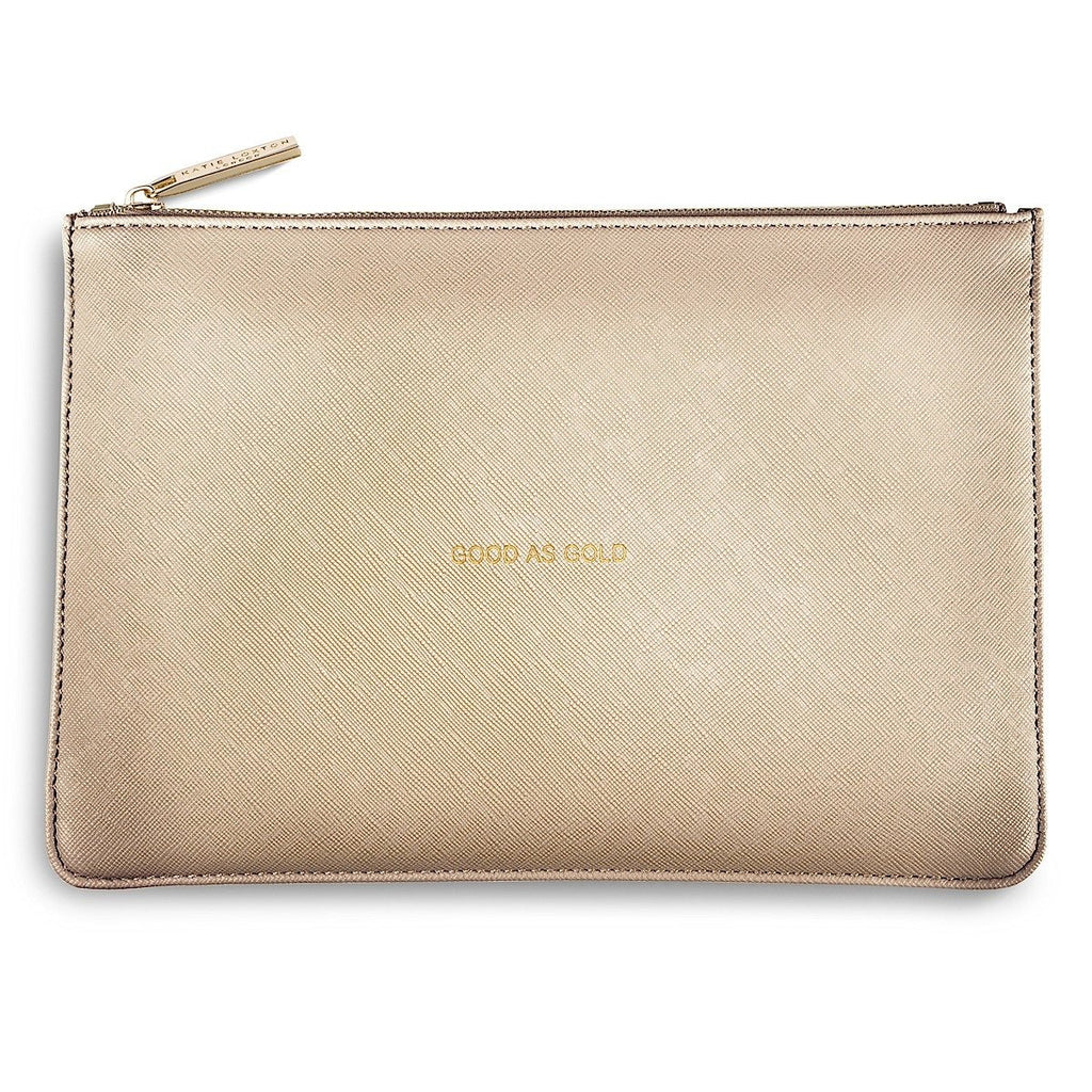 Katie Loxton POUCH 'good as gold' - gold - More Than Just a Gift
