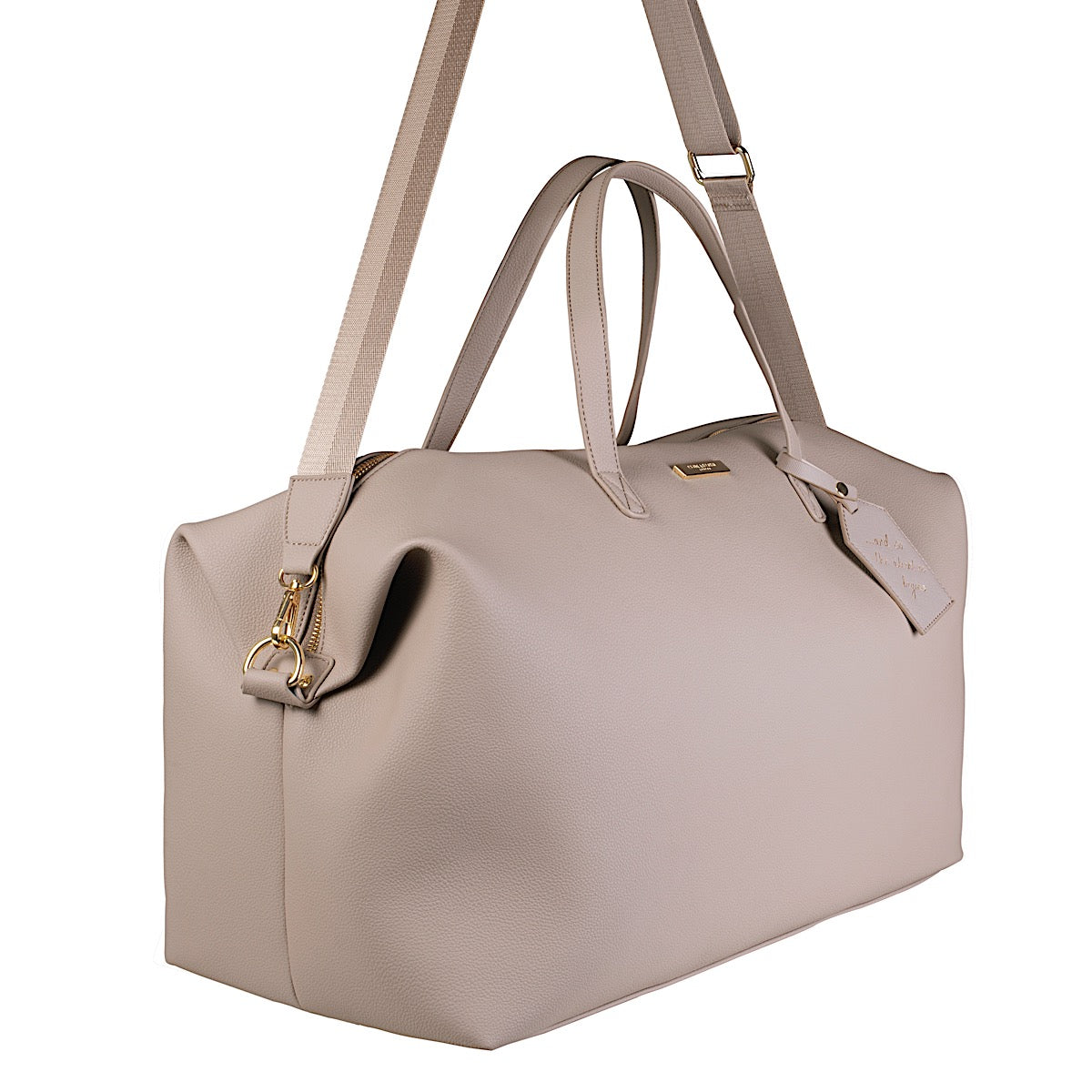 Katie Loxton Adventure Begins Weekend Holdall Bag - taupe
