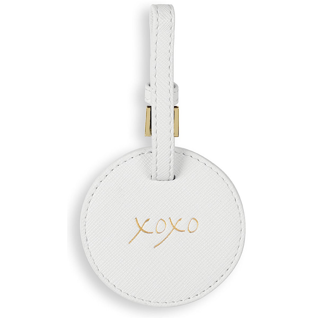 Katie Loxton XOXO Luggage Tag - white