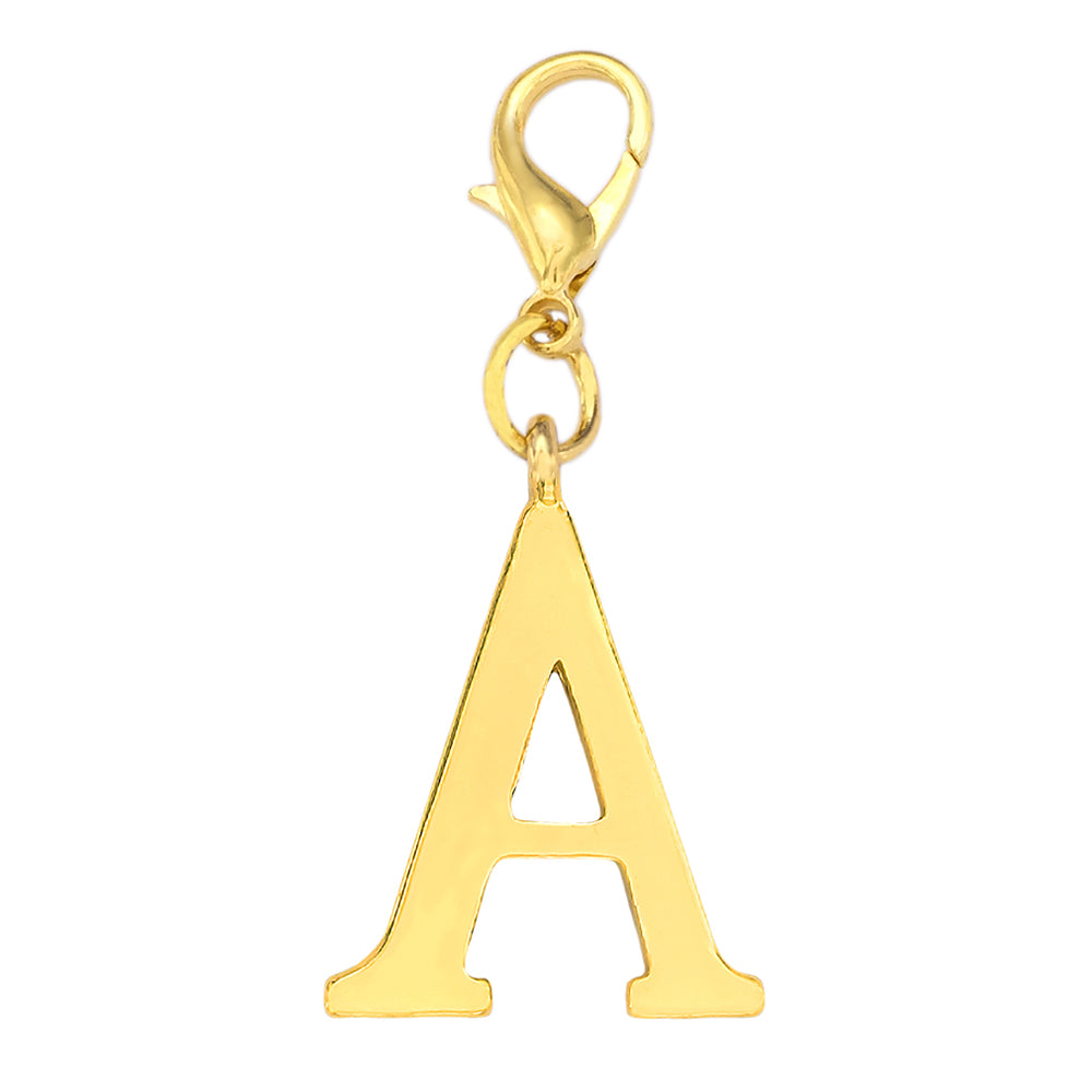 Large Gold Initial Charm - Narborough Hall