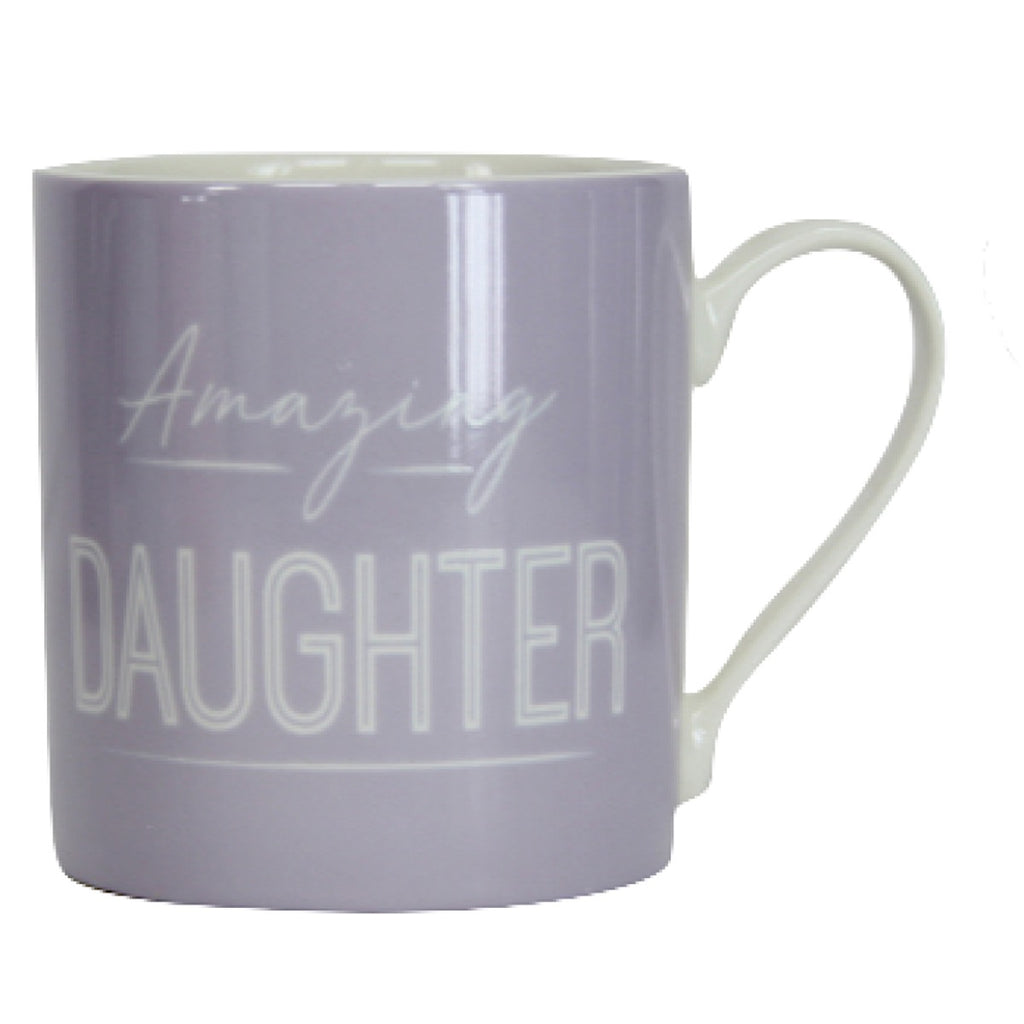Lilac 'Daughter' Ceramic Mug