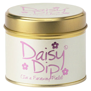 Lily-flame Daisy Dip Candle Tin