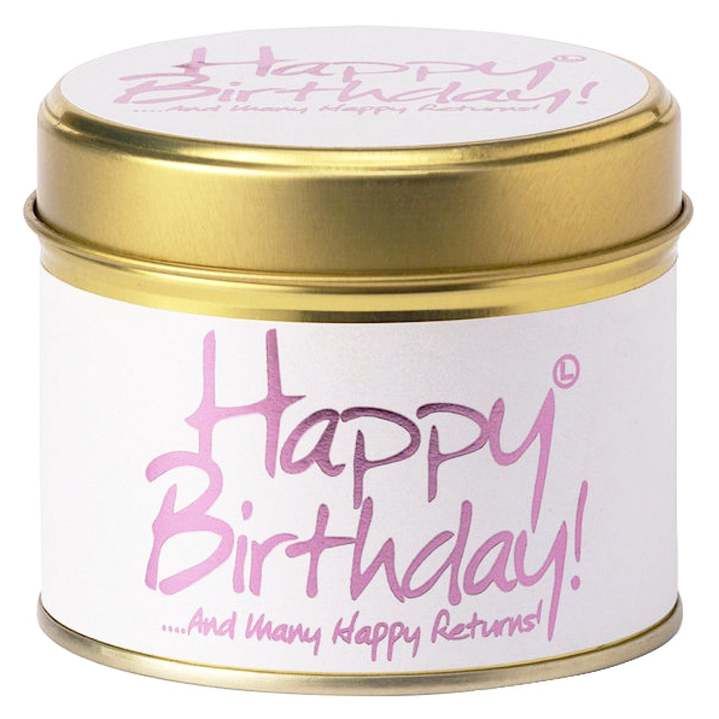 Lily-flame Happy Birthday Candle Tin
