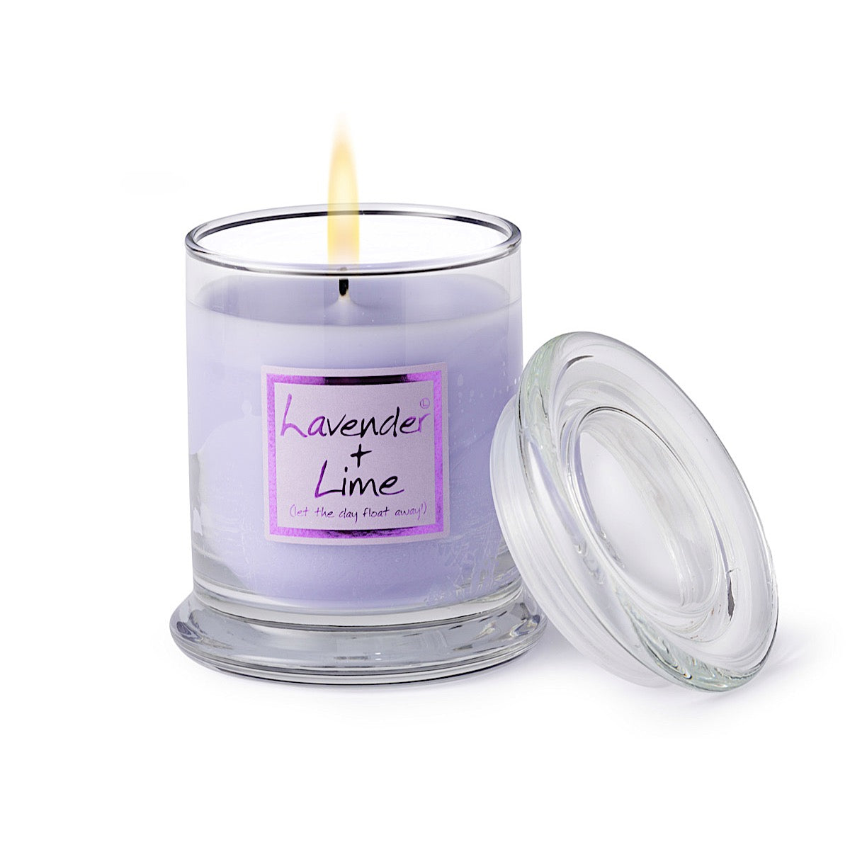 Lily-flame Lavender and Lime Candle Jar