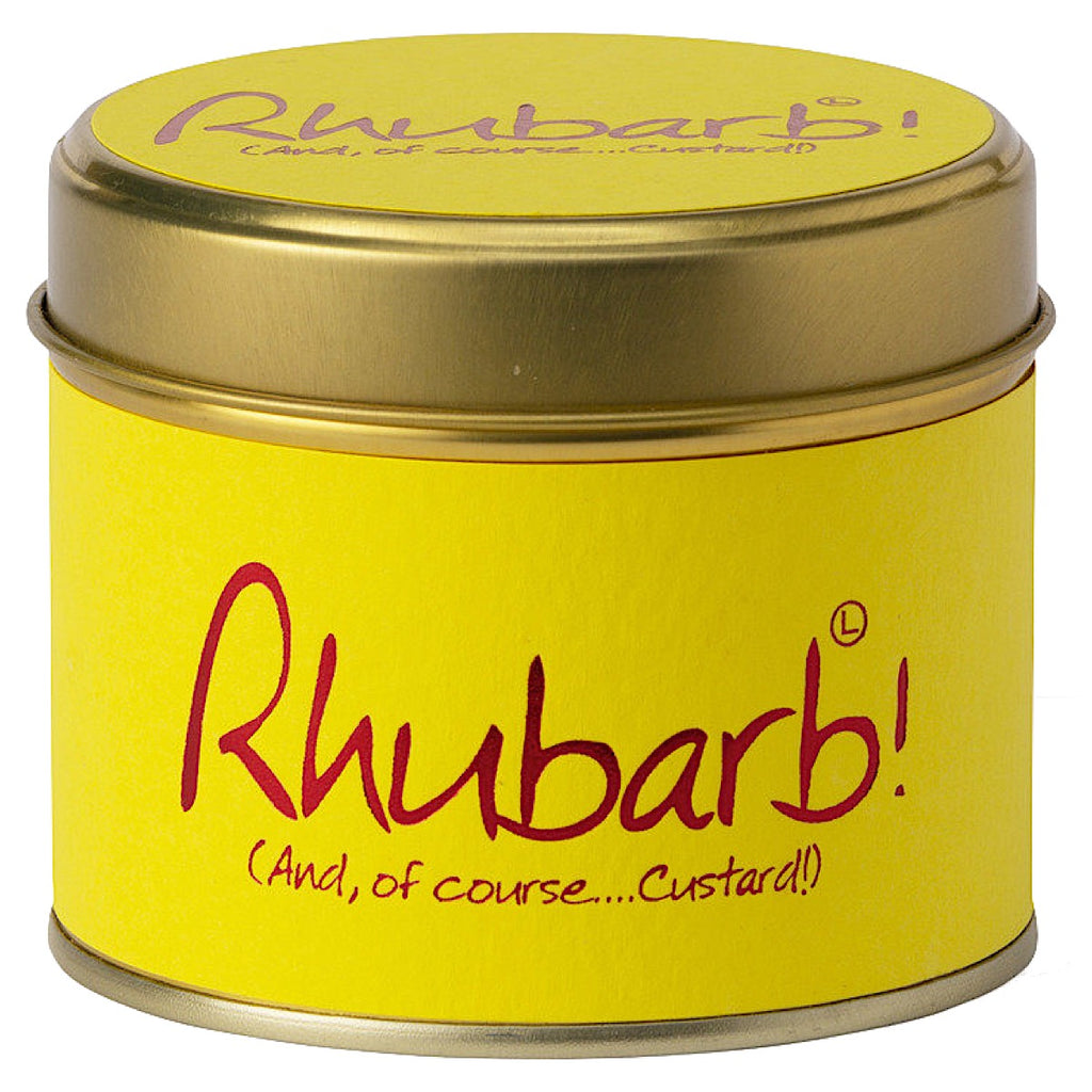 Lily-flame Rhubarb and Custard Candle Tin