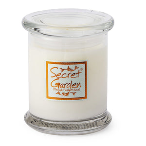 Lily-flame Secret Garden Candle Jar