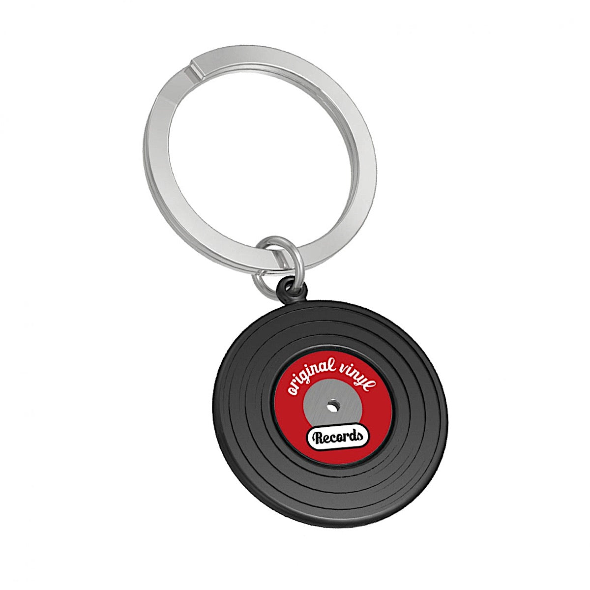 Metalmorphose Black Vinyl Record Keyring | More Than Just A Gift