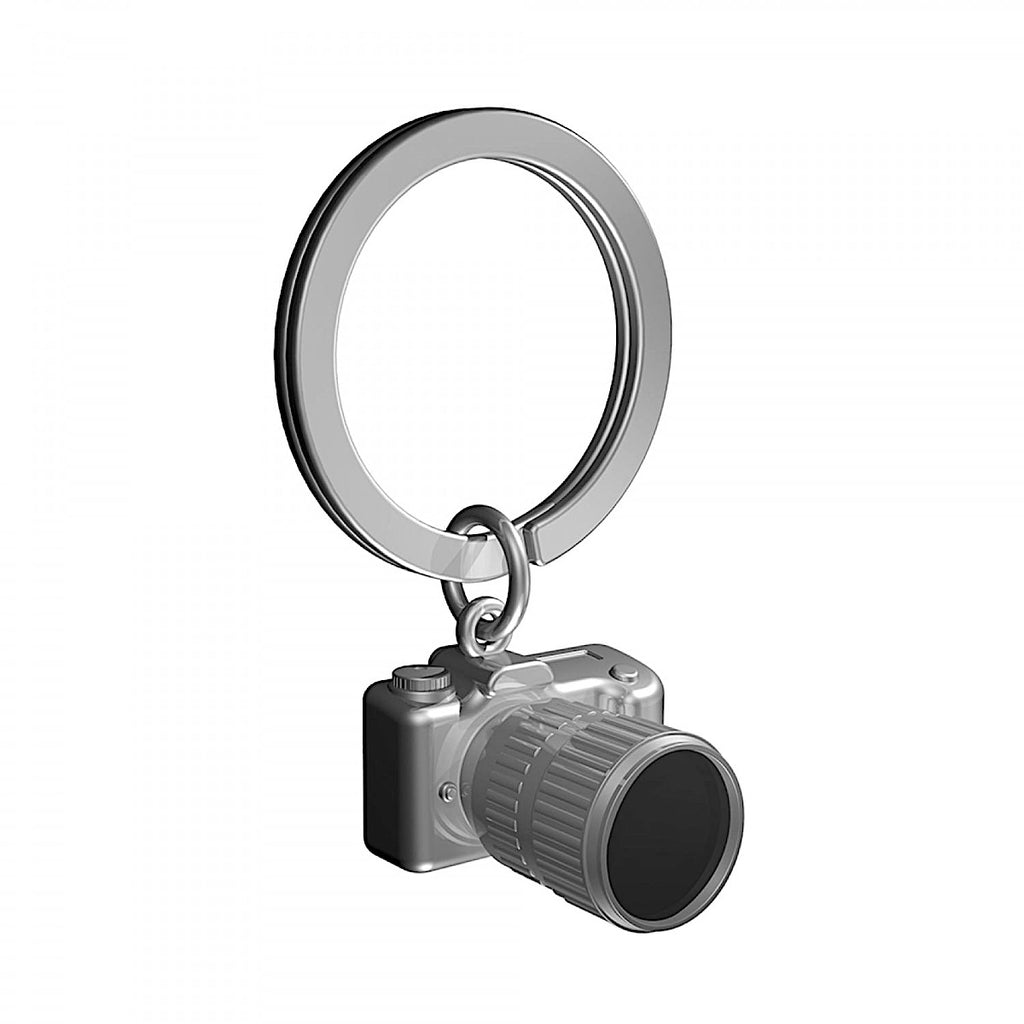 Metalmorphose Gunmetal Camera Keyring | More Than Just A Gift