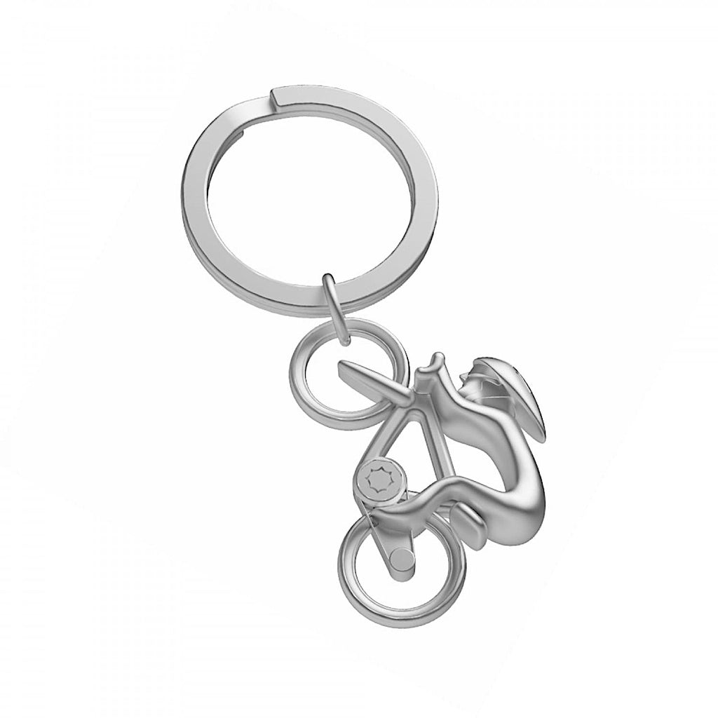 Metalmorphose Silver Cyclist Keyring | More Than Just A Gift