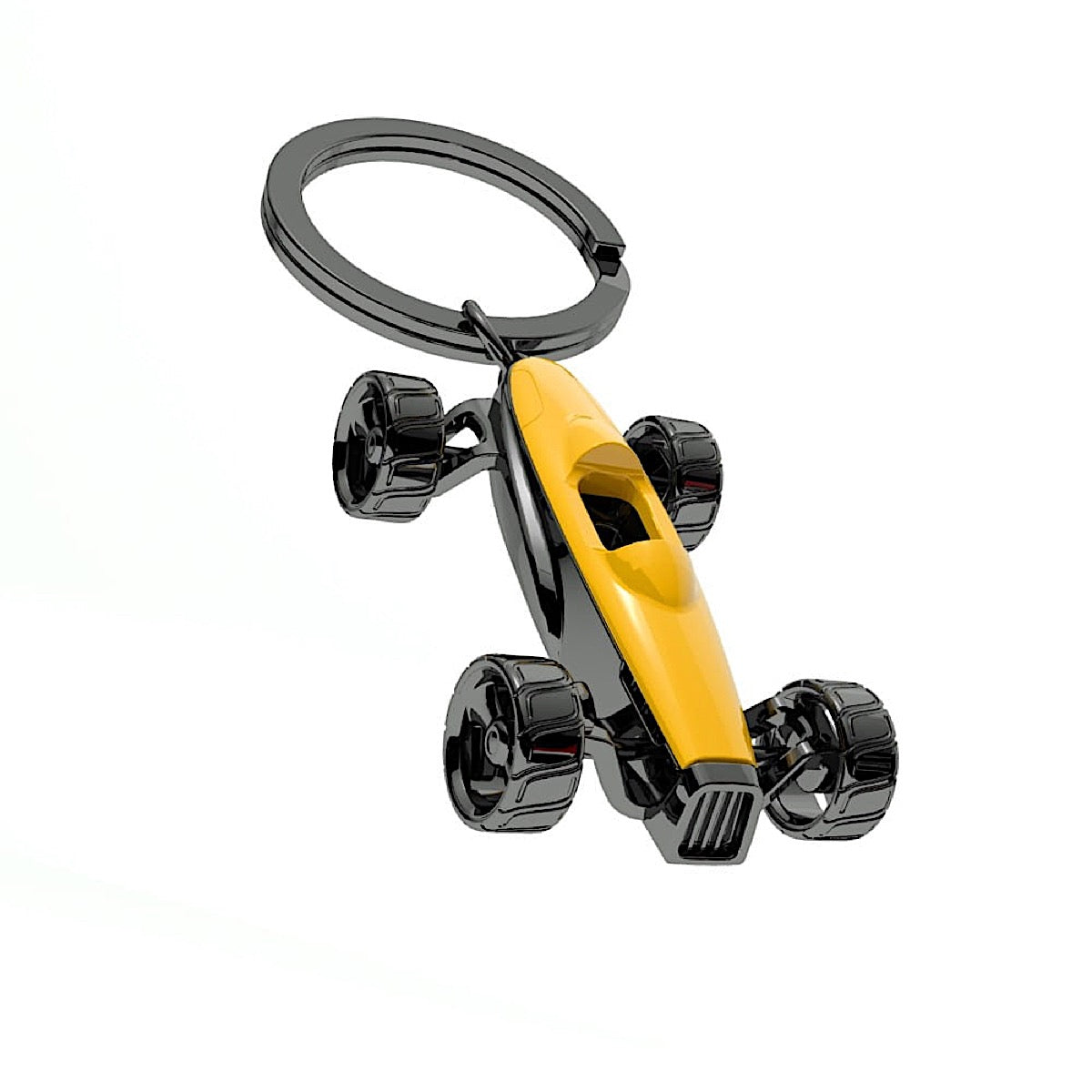 Metalmorphose Yellow Racing Car Keyring