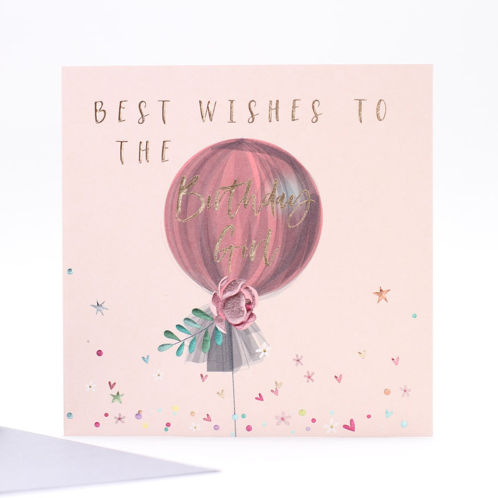 Number 78 Birthday Girl Card