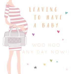 Number 78 Leaving Baby Card