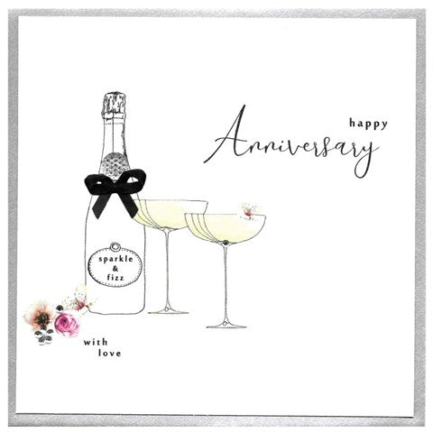 Piccadilly - Happy Anniversary Champagne Card