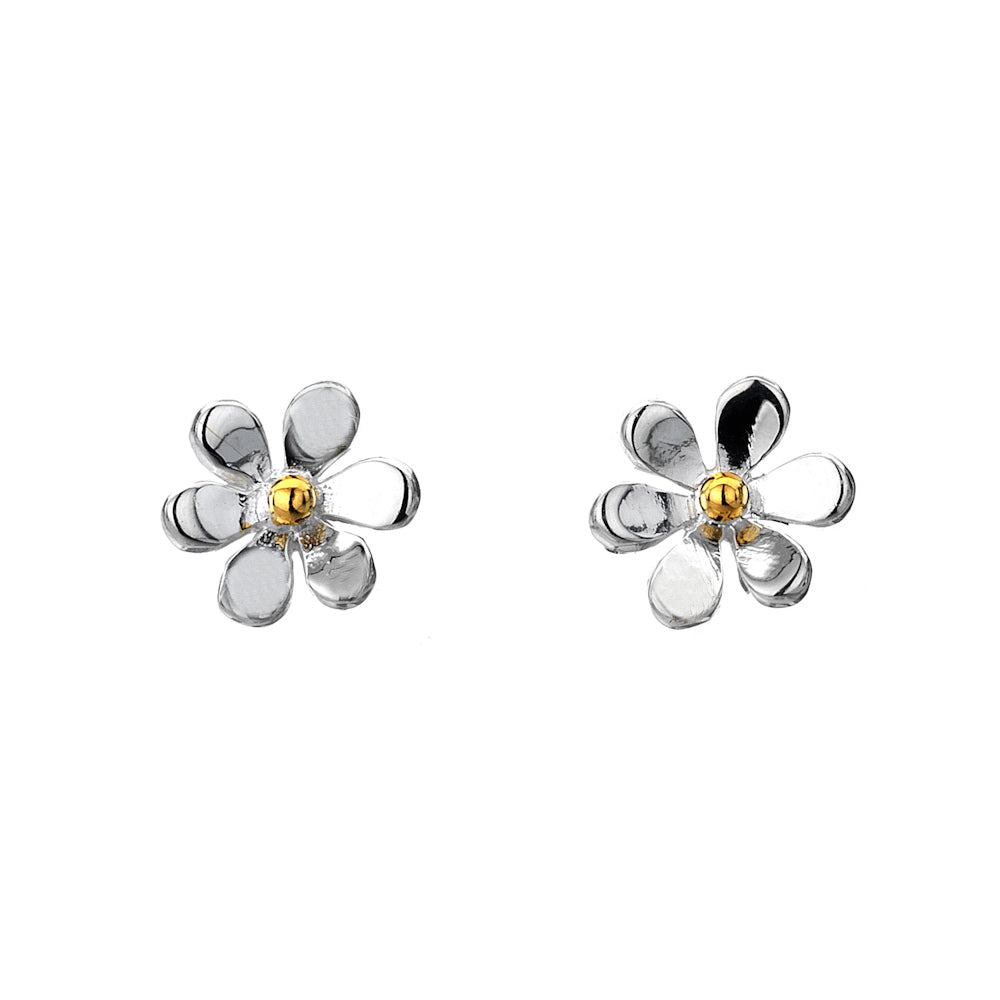 Silver Origins Daisy Earrings - Sterling Silver