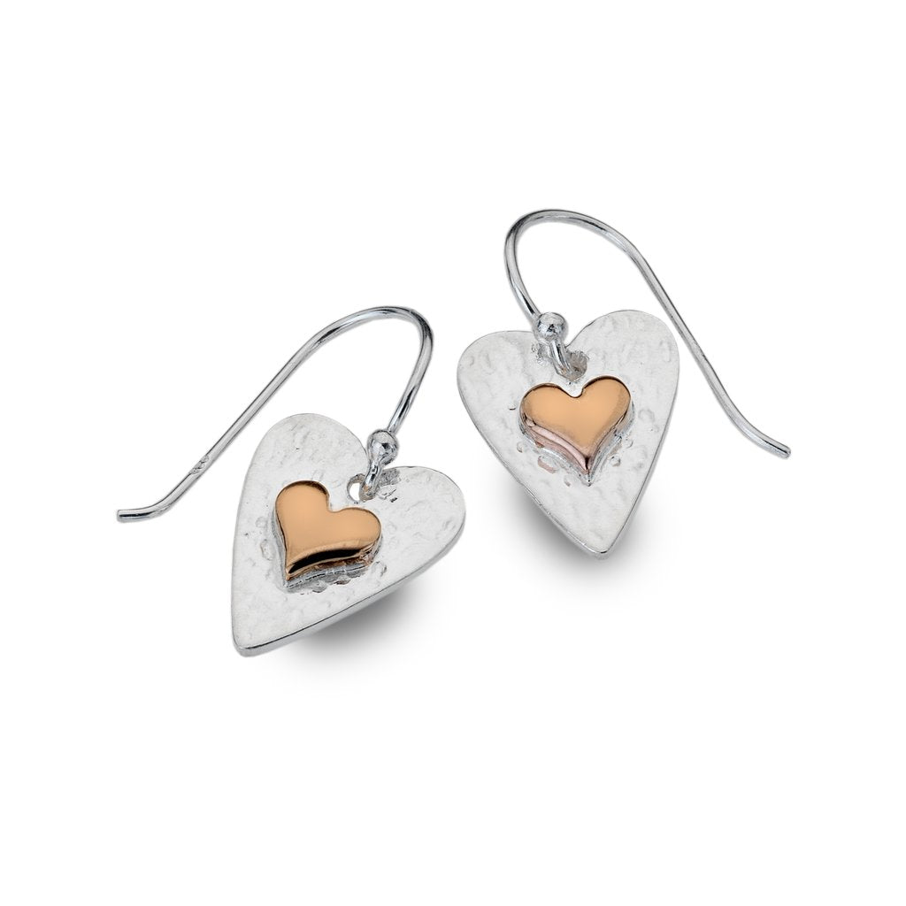 Silver Origins Forever Heart Earrings - Sterling Silver