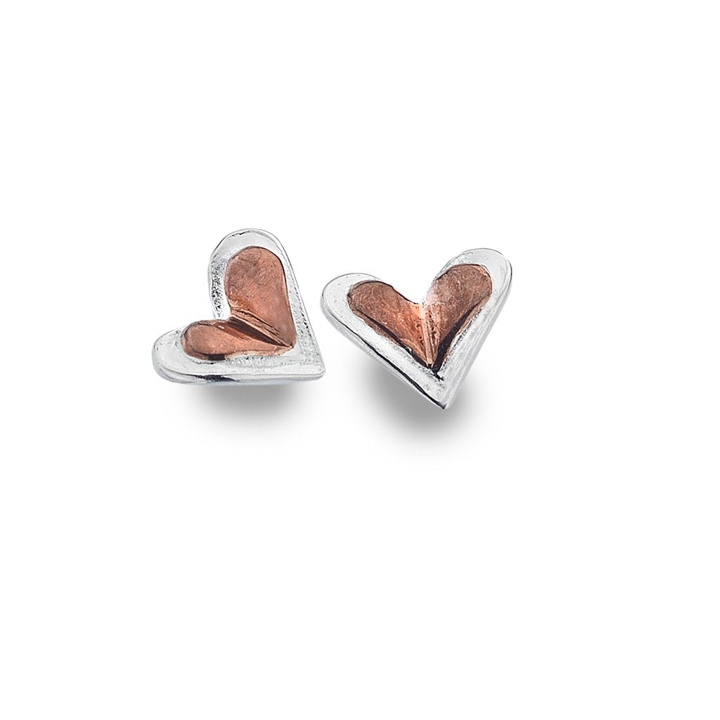 Silver Origins Love's Beginning Stud Earrings