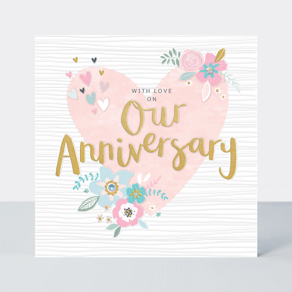 Peony Our Anniversary Card