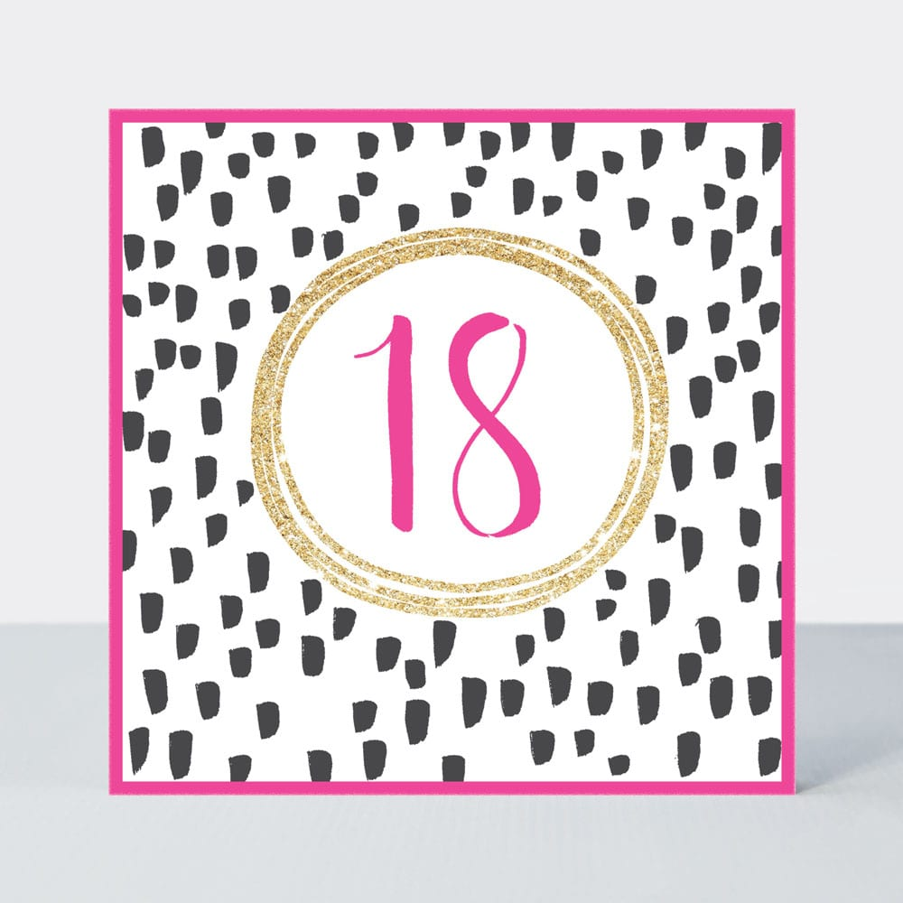 Pink Fizz - 18th Birthday Card