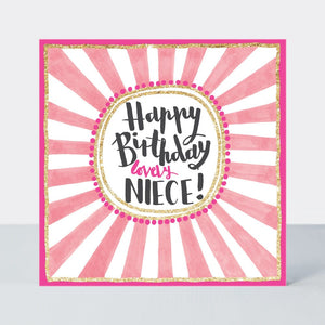 Pink Fizz Happy Birthday Lovely Niece Card