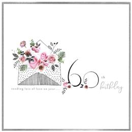 Cinnamon Aitch Piccadilly 60th Birthday Card