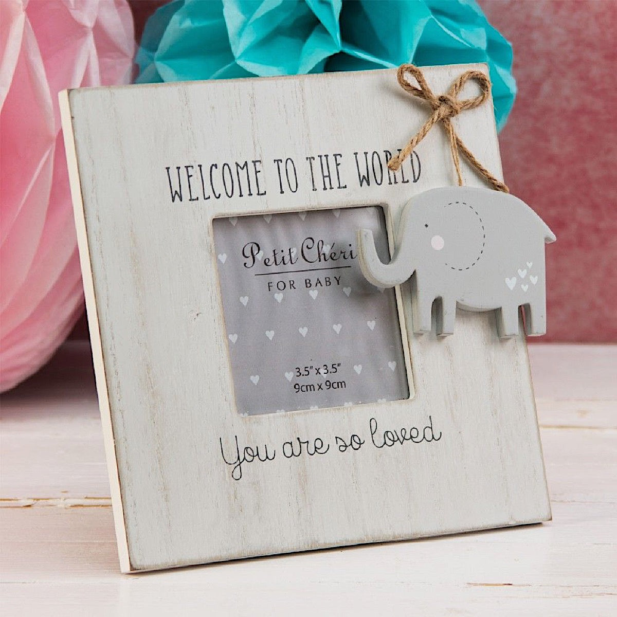 Petit Cheri Elephant Welcome to the World Photo Frame